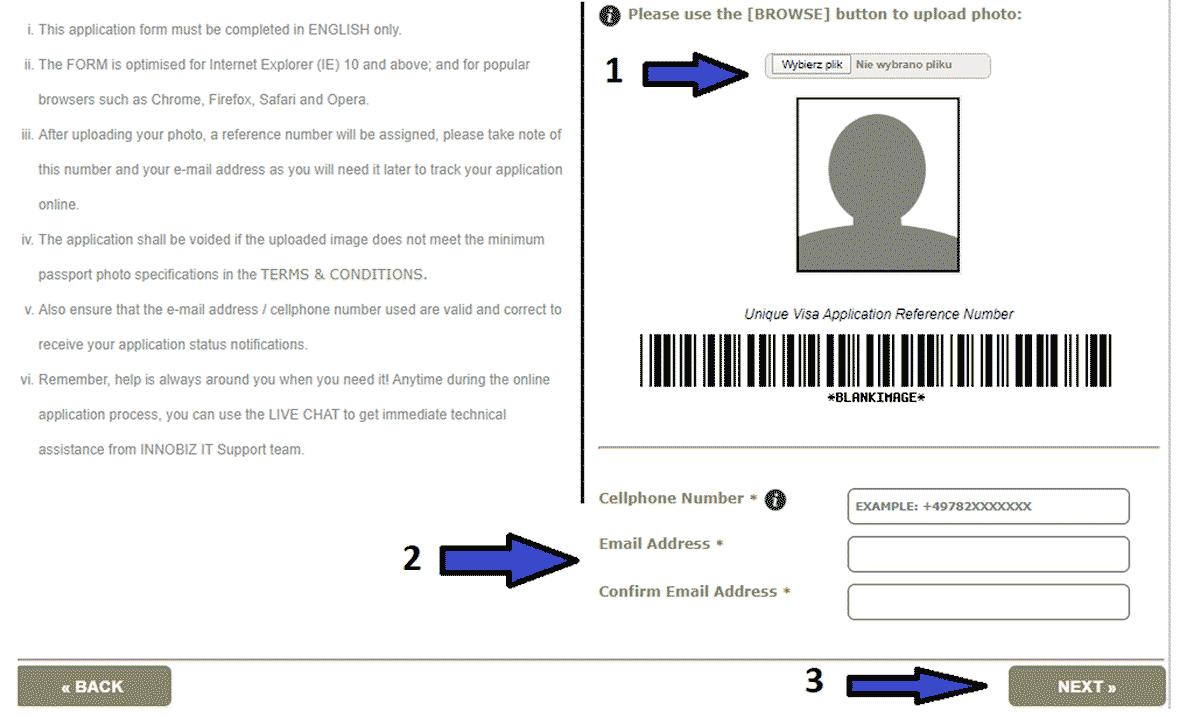 Wniosek wizowy do wizy do Ghany